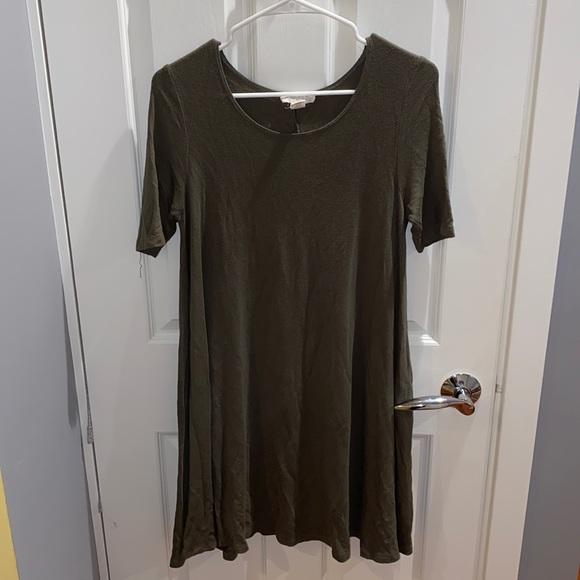 Olive Green T-Shirt Dress